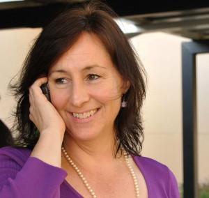 Helene on phone square